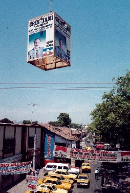 Cristiani campaign poster, El Salvador, March, 1989