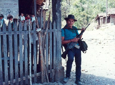 Sentry in Las Vueltas, El Salvador, March 1989